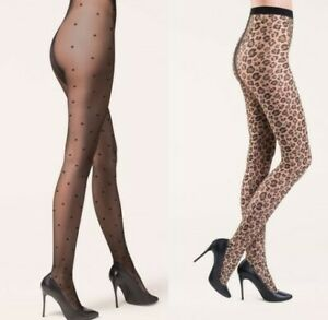 Elegant Ladies patterned tights pantyhose PLUS SIZE 5 XL/XXL hips 112-128 cm