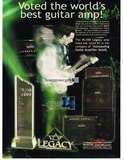2002 CARVIN VL100 Legacy Amp Amplifier STEVE VAI Vtg Print Ad