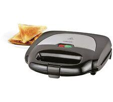 new Cookworks 2 Slice Sandwich Toaster - Black 750 watts UK Seller