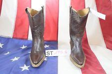 Stiefel Gixus ( Cod. ST1953) Gebraucht N.36 Frau Braunes Leder Cowboy Country