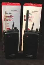 (2) New RadioShack 14-Channel Two-Way Family Radios #21-1804~ See Listing ~