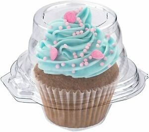 Stock Your Home Single Plastic Cupcake Container - 50 Count