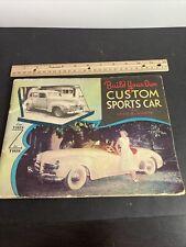 "Very Rare 1952 Build your own ""Custom Sports Car"" the Tasope"