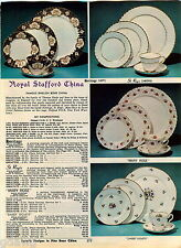1969 ADVERTISEMENT China Royal Stafford Imperial Wentworth Mary Rose Heritage