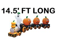 14'FT HALLOWEEN TRAIN AIRBLOWN INFLATABLE LIGHTED YARD DECOR