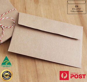 25 x C6 Recycled Brown Kraft Envelopes for Wedding Cards FREE Postage- A Grade