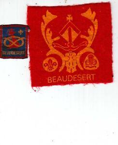 Boy Scout / Girl Guide Badges BEAUDESERT CampSite  felt+ribbon