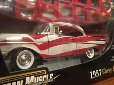 Ertl 1:18 1957 Chevy Bel Air American Flag Item 33987