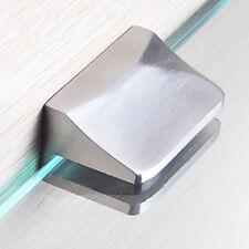 """2pcs Adjustable SUS304 Glass Clip Clamp Shelf Holder Bracket Support 0.23""""-0.35"""""""