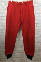 "Original Vintage 50s Hunting Pants JC Higgins Solid Red Virgin Wool 32"" Waist"