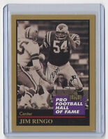 PACKERS Jim Ringo signed 1991 ENOR card #120 AUTOGRAPHED HOF Green Bay Eagles