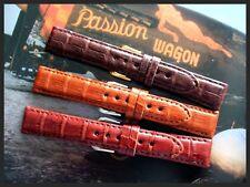 Genuine Crocodile SHORT exotic skin watch band strap IW SUISSE 16 17 18 19 20 mm