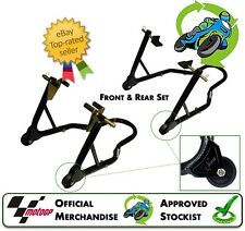 NEW GENUINE MOTO GP UNIVERSAL FRONT & REAR PADDOCK TRACK STANDS PAIR TRACK DAY