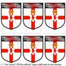 """NORTHERN IRELAND Shield UK 40mm (1.6"""") Mobile Cell Phone Mini Stickers-Decals x6"""