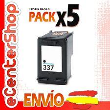 5 Cartuchos Tinta Negra / Negro HP 337 Reman HP Photosmart C4100 Series