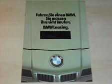 18126) BMW 3er 7er Leasing Prospekt 1980