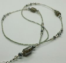 ID Lanyard Classic Silver Tones Beads Handmade Cruise Badge Holder Work Lanyard