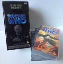 DOCTOR WHO THE FIRST DOCTOR SPECIAL EDITION BOXSET VHS video cassette SIGNED
