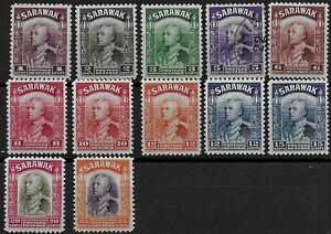 Sarawak 1934 KGV Sir Charles Vyner Brooke Definitives - MH (5c is used)
