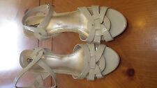 """Faux Beige Snakeskin Platform Heels Sz 10W 4 3/4"""" heels by CATO Strappy Sandals"""