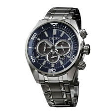 Citizen Silver Mens Analog Business Eco-Drive Chronograph CA4330-81L