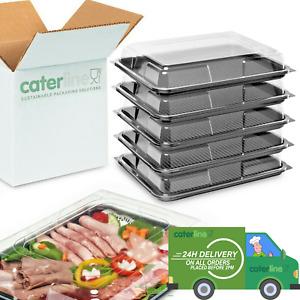 Medium Buffet Platters & Lids 25 (390 x 295 x 70mm) Reusable & Recyclable