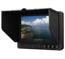 "Lilliput 665/S/P 7"" LED Field Monitor 3G-SDI & HDMI Input Output for Photography"