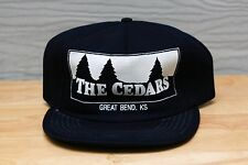 Rare Vtg The Cedars Gread Bend Ks Kansas Mesh Trucker Snapback Hat Cap