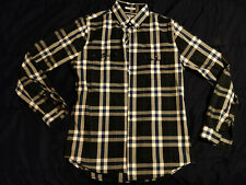 Express Men Extra Slim Fit Long Sleeve Button Down Plaid Shirt