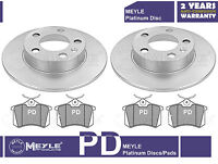 FOR SEAT LEON 2000-2005 REAR BRAKE DISC DISCS AND PAD PADS PD MEYLE PLATINUM NEW
