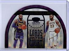 2019-20 Panini Crown Royale #6 LEBRON JAMES Lords Of The Court Purple #'D 19/25
