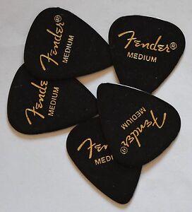 Fender Guitar Picks Black 351  Thin Medium or Heavy  5 Picks