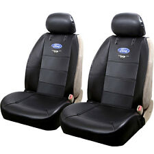 FOR FORD MUSTANG LOGO CAR TRUCK SUV FRONT SIDELESS SEAT COVERS SET BLACK
