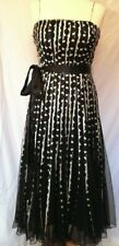 PHASE EIGHT Black Cream Stephanie Strappy Cocktail Party Evening Prom Dress 12