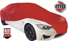MPE Red Soft Breathable Fabric Indoor, Garage & Showroom Full Car Cover - Medium