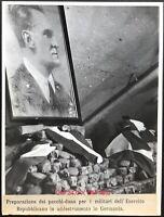 RSI PACCHI DONO PER I MILITARI IN ADDESTRAMENTO IN GERMANIA fotografia 24X18 cm