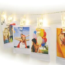 POLAROID STRING LIGHTS 10 LED ILLUMINATED PHOTO WALLETS
