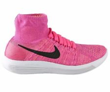 Nike Lunarepic Flyknit Running Shoes US9 UK 6.5 EUR 40.5 Pink 818677 601