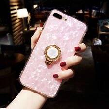 Fashion Cute Dream shell Pearl ring soft Tpu case cover for iphone X 8 7 6S plus