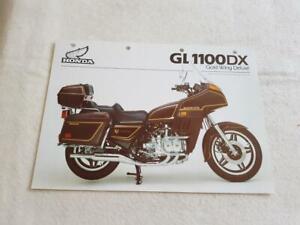 HONDA GL1100 GOLDWING Motorcycle Sales Spec Leaflet FEB 1982