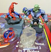 DISNEY INFINITY 2.0 MARVEL FIGURES SPIDER-MAN GREEN GOBLIN + DISC + CRYSTAL EXC!