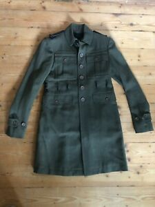 Burberry PRORSUM Trenchcoat Mantel Militärstil Herren S 46 44 Damen 38