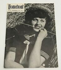 Vntg Home Front Magazine Bangor PA Slate Belt Area Vol III November 1944 No. 8
