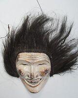 Vintage Africa Kenya Indonesia Carved Wood Mask Sculpture Art Figure Primitive