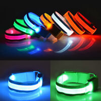 Neon LED Light Strap Wrist Slap Safety Night Running Armband Ankle Riding Glow