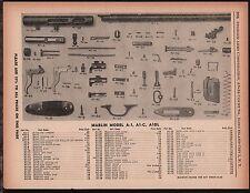 1958 MARLIN Model A-1, A1-C, A1DL Rifle Parts List Original Vintage Gun Ad