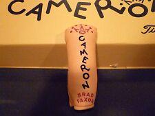 Scotty Cameron BRAD FAXON Studio design Titleist putter head cover Rare