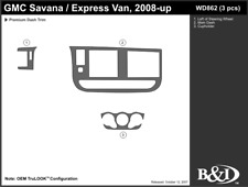 GMC SAVANA VAN 2008 2009 2010 2011 DASH TRIM KIT a