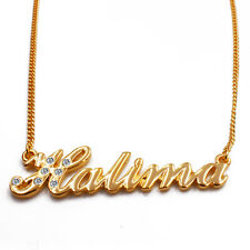 """Name Necklace """"HALIMA"""" - 18ct Gold Plated - Christmas Wedding - Birthday Gifts"""