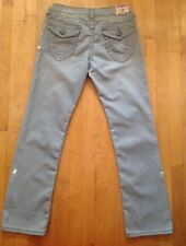True Religion Women's  Billy Gray Splatter Straight Leg Stretch Jeans Size 31